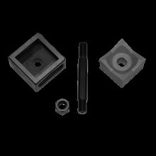 Blechlocher 92,0 x 92,0 mm für Edelstahl